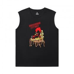 Deadpool Sleeveless T Shirts Men'S For Gym Marvel Tees