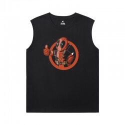 Marvel Deadpool Printed Sleeveless T Shirts For Mens Tee