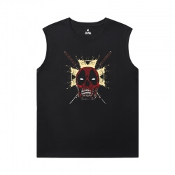 Deadpool Shirt Marvel Sleeveless T Shirt Mens Gym