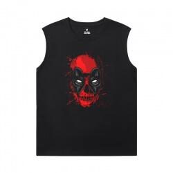 Deadpool Black Sleeveless Shirt Men Marvel Shirt