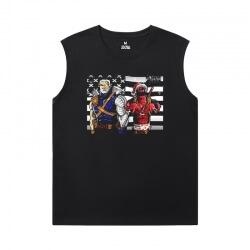Marvel Deadpool Tee Sleeveless T Shirt Black