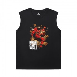 Deadpool Men'S Sleeveless T Shirts Cotton Marvel Shirt