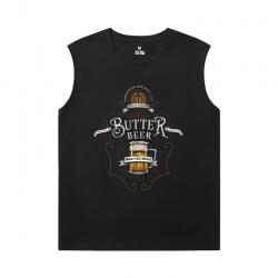Harry Potter T-Shirts Cotton Black Sleeveless T Shirt