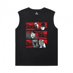 Batman Joker Black Sleeveless Tshirt Superhero T-Shirt