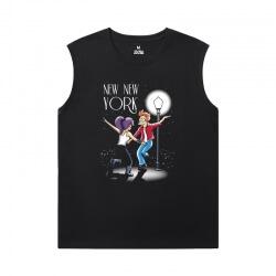 Cotton Shirts American Anime Futurama Sleeveless Tshirt For Men