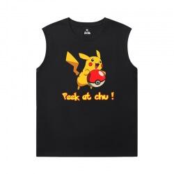 Pokemon Full Sleeveless T Shirt Cotton Tee
