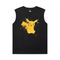 Cotton Shirts Pokemon Round Neck Sleeveless T Shirt