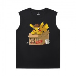 Quality Tshirts Pokemon Sleeveless Printed T Shirts Mens