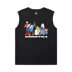 Undertale Black Sleeveless T Shirt Mens Personalised Annoying Dog Skull T-Shirts