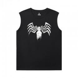 Venom Men'S Sleeveless T Shirts Cotton Marvel Tees