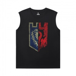World Of Warcraft Sleeveless T Shirts Men'S For Gym Blizzard Tees
