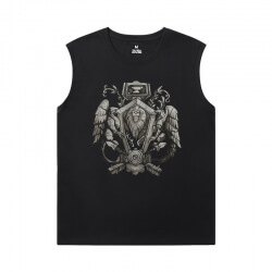 World Warcraft Tee Shirt Blizzard Sleeveless Tshirt For Men