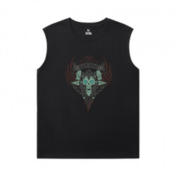 World Of Warcraft Sleeveless Tshirt Mens Blizzard Shirt