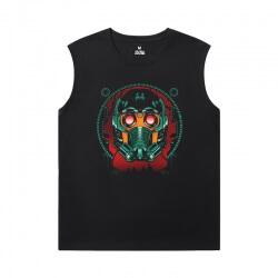 Marvel Guardians of the Galaxy Black Sleeveless Shirt Men Groot T-Shirt