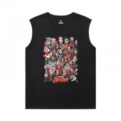 Spider-Man:Homecoming Tshirts Marvel Spiderman Round Neck Sleeveless T Shirt