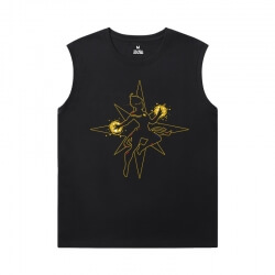 Marvel Captain Marvel Tee Shirt The Avengers Black Sleeveless Tshirt