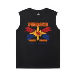 The Avengers Tshirts Marvel Captain Marvel Men Sleeveless Tshirt