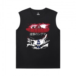 Attack on Titan Tee Vintage Anime Printed Sleeveless T Shirts For Mens