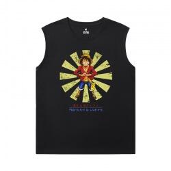 Anime One Piece Tee Shirt Personalised Sleeveless Crew Neck T Shirt