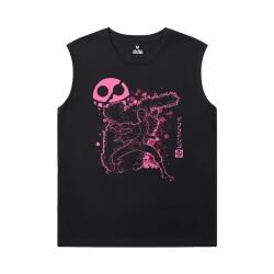 Cotton Tshirts Anime One Piece Black Sleeveless T Shirt