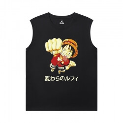 Hot Topic Tshirt Anime One Piece Sleeveless T Shirt Black