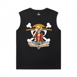 One Piece Tees Anime Personalised Black Sleeveless Tshirt