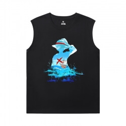 Anime One Piece Mens Sleeveless Tshirt Cotton T-Shirt