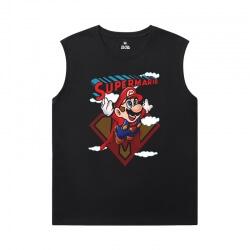 Mario T-Shirts Hot Topic Black Sleeveless Shirt Men