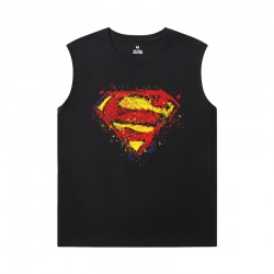 Justice League Superman Sleeveless Tshirt Men Marvel T-Shirt