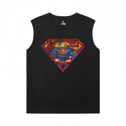 Superman Sleeveless Tshirt For Men Justice League Superhero Shirt