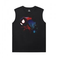 Spiderman Sleeveless T Shirts For Running Marvel The Avengers Tees