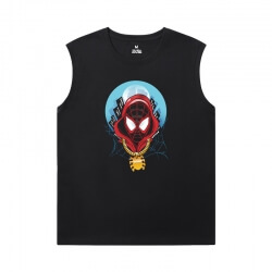 Spiderman Shirt Marvel The Avengers Sleeveless T Shirts Men'S For Gym