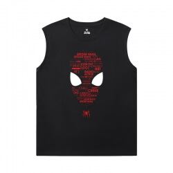Marvel Spiderman Tee Shirt The Avengers Printed Sleeveless T Shirts For Mens