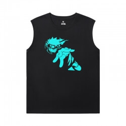 Naruto Tee Shirt Vintage Anime Mens Oversized Sleeveless T Shirt