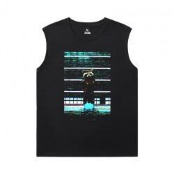 Guardians of the Galaxy Black Sleeveless Tshirt Marvel The Avengers Groot Shirt