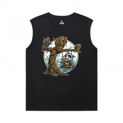 Groot Tshirts Marvel Guardians of the Galaxy Black Sleeveless T Shirt