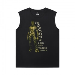 Guardians of the Galaxy T-Shirts Marvel Groot Men'S Sleeveless T Shirts For Gym