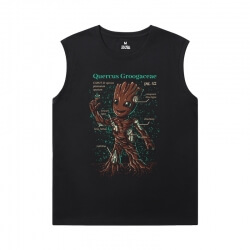 Guardians of the Galaxy Tees Marvel Groot Men Sleeveless Tshirt