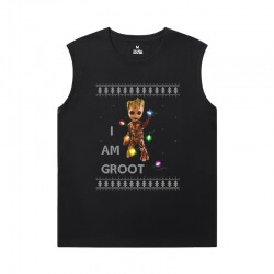 Groot Shirts Marvel Guardians of the Galaxy Round Neck Sleeveless T Shirt