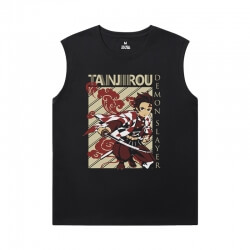 Demon Slayer Shirt Anime Personalised Sleeveless Tee Shirts Mens