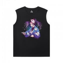 Anime Demon Slayer Tee Shirt Cotton Sports Sleeveless T Shirts