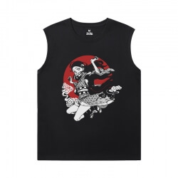 Demon Slayer Sleeveless T Shirts Men'S For Gym Anime Cool T-Shirts
