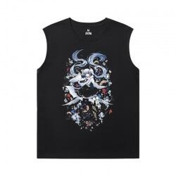 Hatsune Miku T-Shirt Cool Luo Tianyi Sleeveless Tshirt For Men