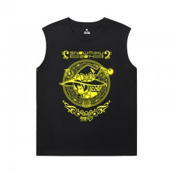 Hatsune Miku Men'S Sleeveless T Shirts For Gym Personalised Luo Tianyi Tees