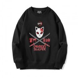 Black Sweatshirts Anime Demon Slayer Tops