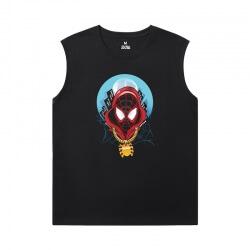 The Avengers Tshirt Marvel Spiderman Black Sleeveless T Shirt
