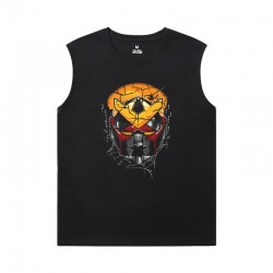 The Avengers Shirts Marvel Spiderman Black Sleeveless Tshirt