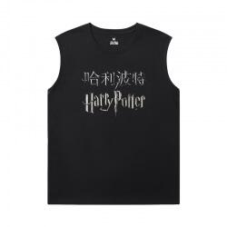 Harry Potter Tees Cotton Men'S Sleeveless Graphic T Shirts