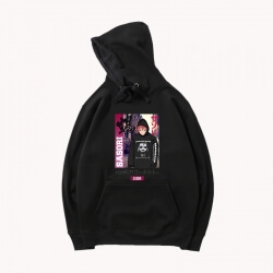 Naruto Hooded Coat Japanese Anime Black Coat