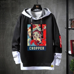 One Piece Sweatshirt Anime Black Chopper Hoodie
